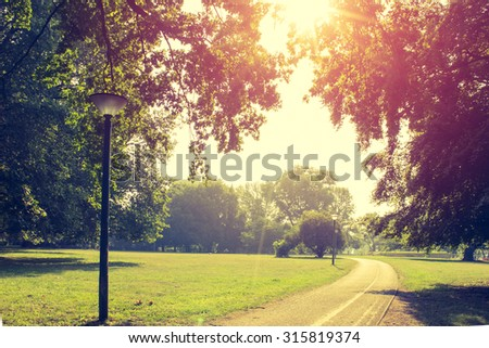 Urban Park  - stock photo