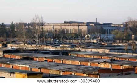 Urban parking - stock photo