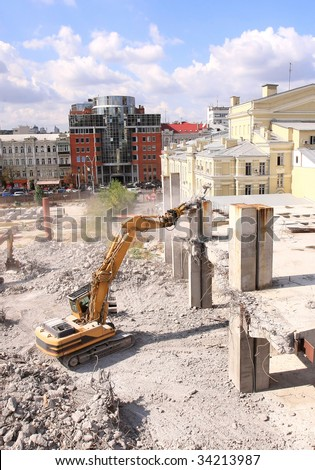 Urban renewal in the city centre 3 - stock photo