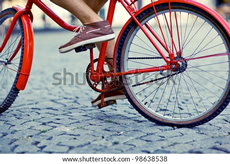 urban rider - stock photo