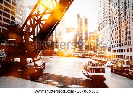 Urban scene - stock photo
