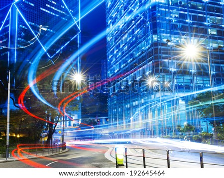 Urban scene of Hong Kong. - stock photo