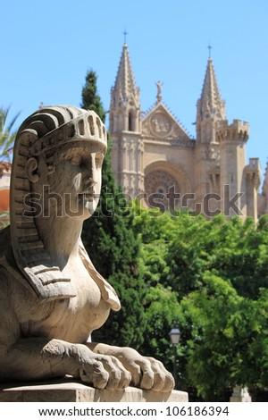 Urban scenic in Palma de Mallorca, Spain - stock photo