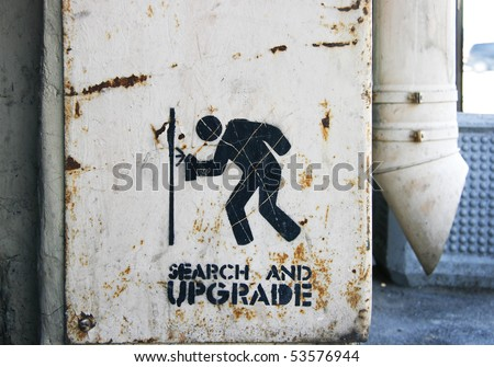 Urban sign on metal background - stock photo