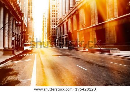 Urban street scene - stock photo