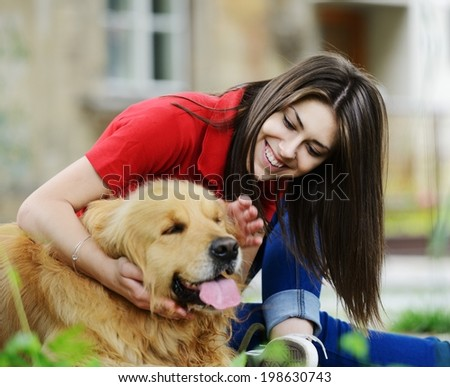 Urban stylish trendy young teenage people with dog
