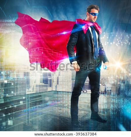 Urban superhero - stock photo