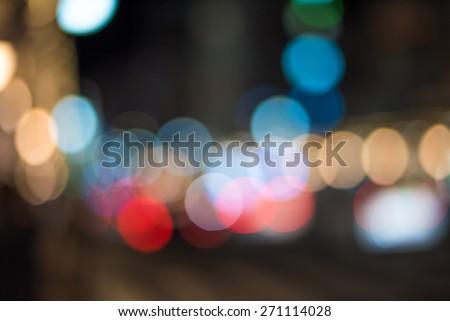 Urban traffic bokeh background  - stock photo
