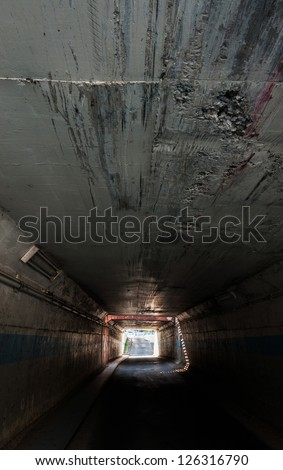 Urban Tunnel under the ground. - stock photo