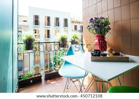 urban vintage terrace apartment