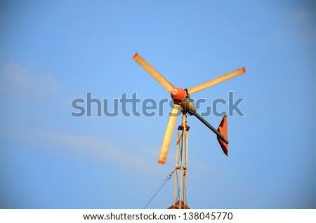 Urban wind turbine in Thailand - stock photo