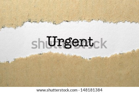 Urgent concept - stock photo