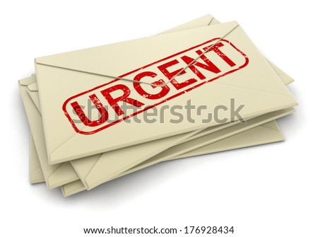 Urgent letters  (clipping path included)