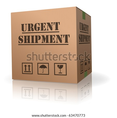 urgent shipment cardboard box order delivery after online shopping deliver parcel fast