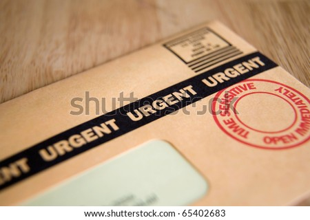 Urgent, Time Sensitive, Junk mail or bill