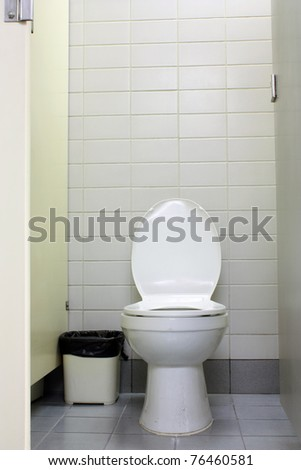 urinal man and woman toilets - stock photo