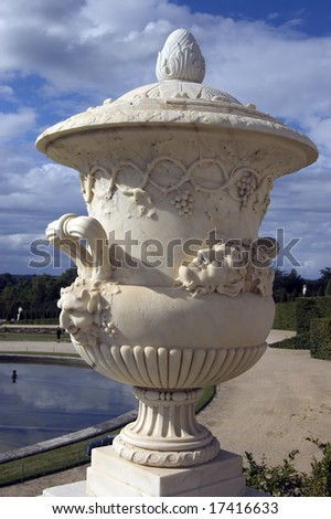 Urn Statue Palace Versailles - stock photo