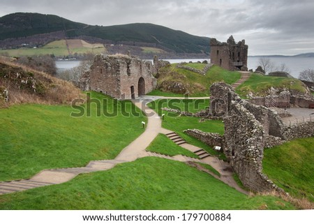 Urquhart Castle, Loch Ness, Scotland - stock photo