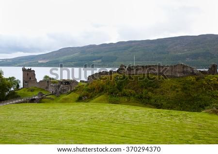 Urquhart Castle - Loch Ness - Scotland - stock photo