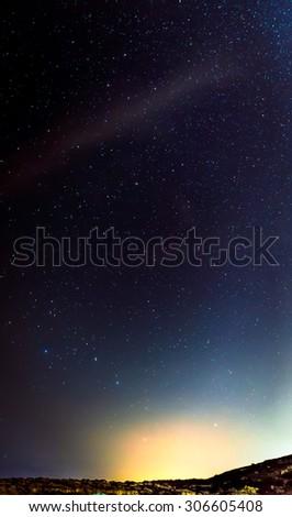 Ursa Major rises up through an August sky in Malta. - stock photo
