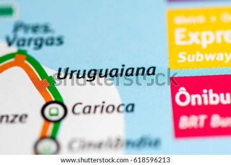 Uruguaiana Station Rio De Janeiro Metro Stock Photo Download Now