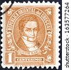 "URUGUAY - CIRCA 1945: A stamp printed in Uruguay from the "" Personalities "" issue shows Silvestre Blanco, 1783-1840, circa 1945.  - stock photo"
