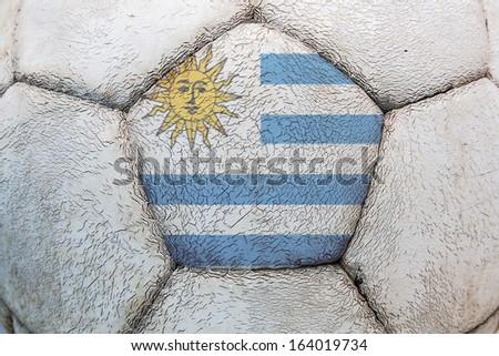 uruguay flag soccer - stock photo
