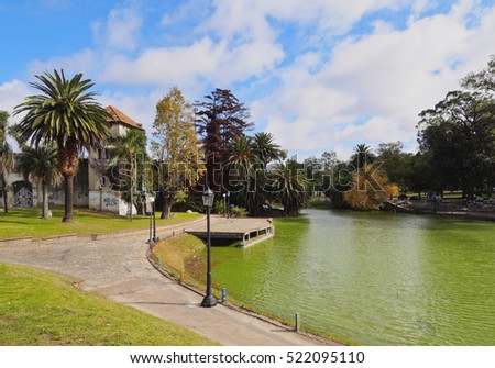 Uruguay, Montevideo, View of the Parque Rodo.