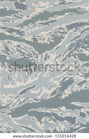 US air force digital tigerstripe camouflage fabric texture background - stock photo
