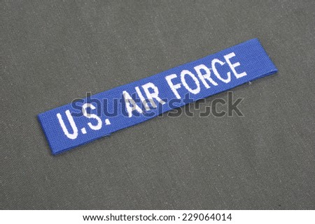 us air force uniform vietnam war period background