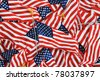 US American Flag on Pole Background - stock photo