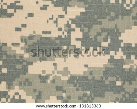 US army acu digital camouflage fabric texture background - stock photo