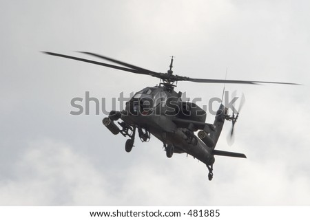 US Army Apache helicopter - stock photo