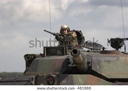 US Army M1 Abrams tank - stock photo