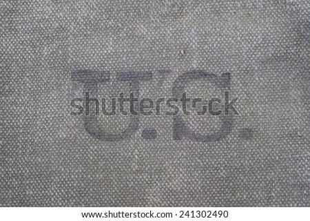 us army uniform marked with the U.S. background - stock photo