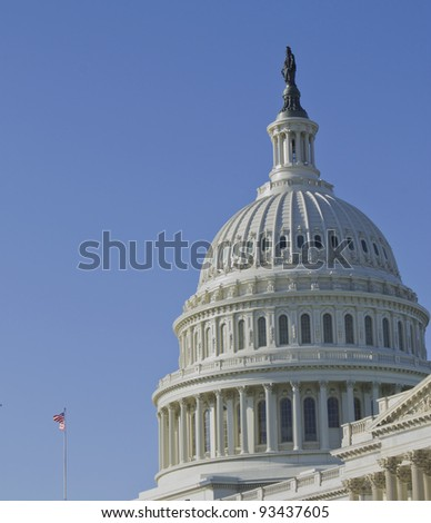 US Capitol Building, Dome Close up view, Washington DC