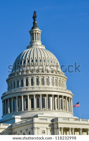 US Capitol Building dome detail - Washington DC, United States