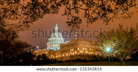 US Capitol Building in spring- Washington DC, United States - stock photo