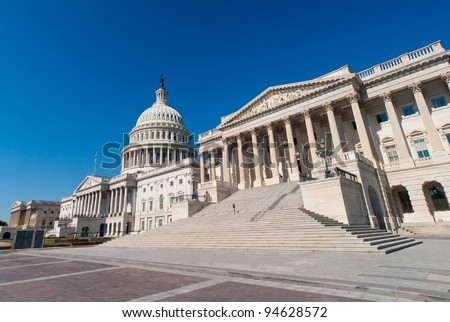 US Capitol building  in Washington, DC. - stock photo