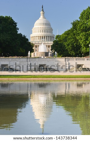 US Capitol Building in Washington DC United States  - stock photo