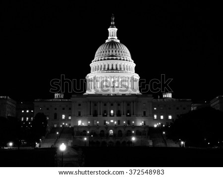 US Capitol Building in Washington DC (USA)