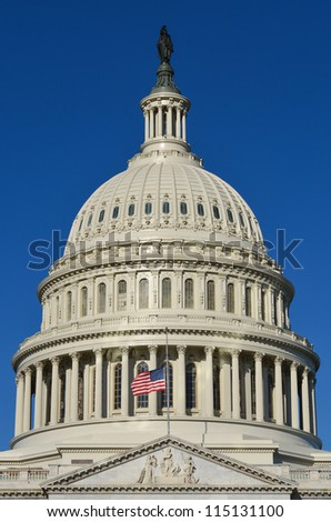 US Capitol Building - Washington DC - stock photo