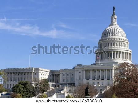 US Capitol Building, Washington DC - stock photo