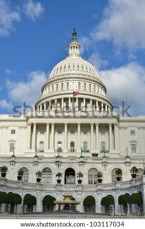 US Capitol Building  - Washington DC United States - stock photo