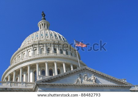 US Capitol Building,  Washington, DC, US Congress,  It is at the east end of the National Mall