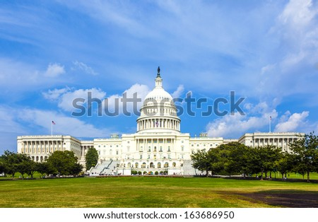 US Capitol in Washington DC - stock photo