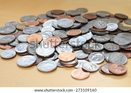 us coins - stock photo