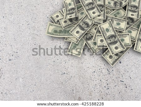 Us currency $100 both from front and back like real one on texture background. 3d rendering - stock photo