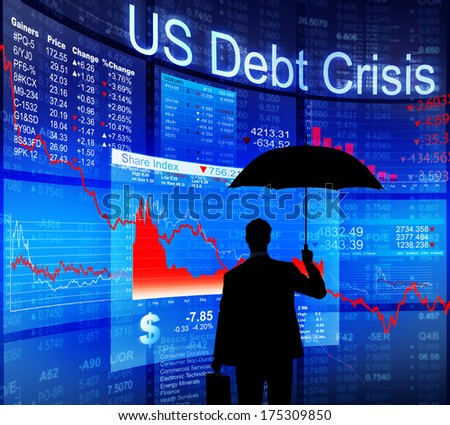 US Debt Protection - stock photo