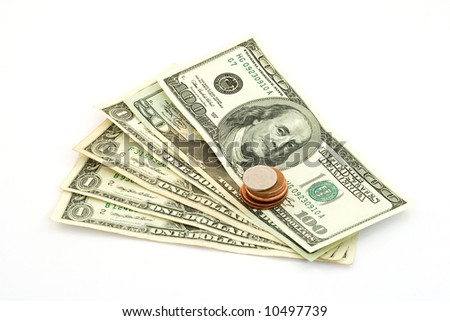 us dollar bank notes studio isolated